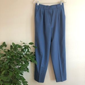 vintage • high waist periwinkle trousers
